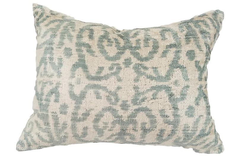 Rayla 16x24 Lumbar Pillow, Gray/Ivory