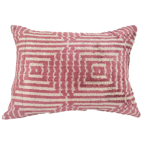 Lais 16x24 Lumbar Pillow, Blush/Cream