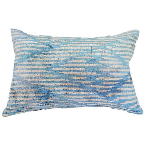 Talia 16x24 Lumbar Pillow, Arctic/Ivory