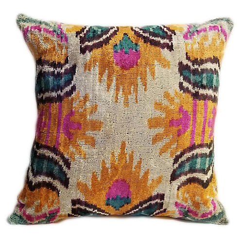 Claire 16x16 Pillow, Orange/Pink