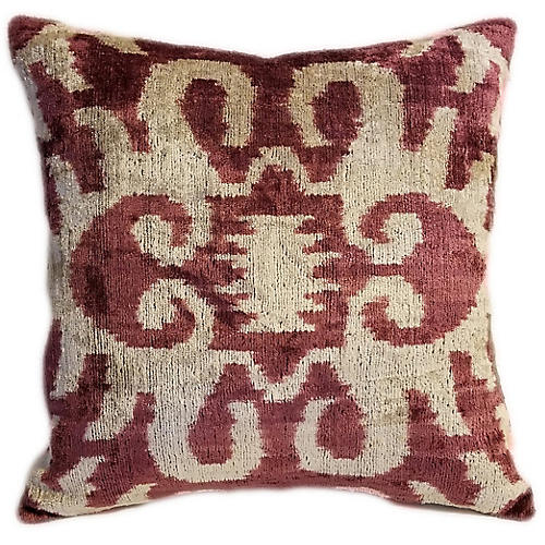 Nara 16x16 Pillow, Sienna/Cream