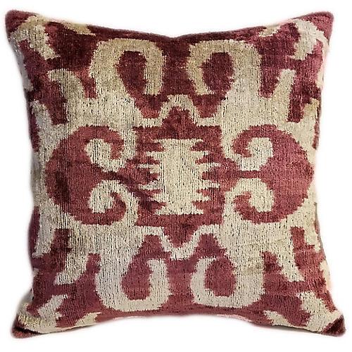 Nara 16x16 Pillow, Sienna/Cream