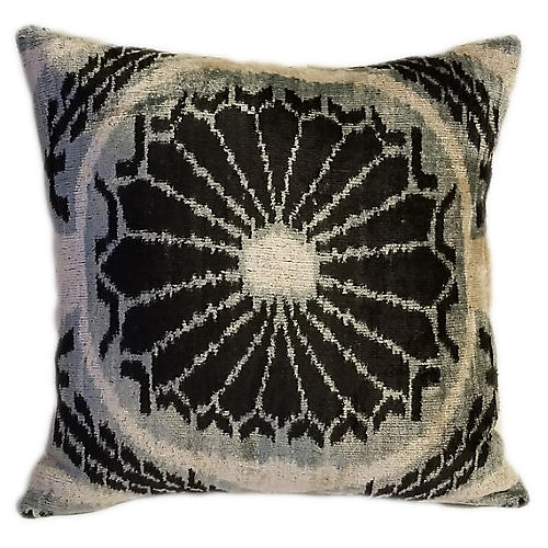 Leda 16x16 Pillow, Black/Gray