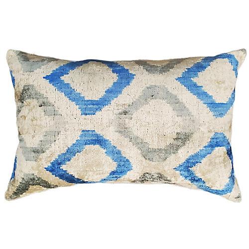Sara 16x24 Lumbar Pillow, Blue