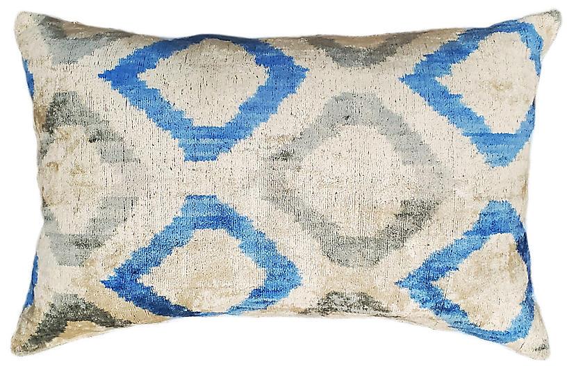 Sara Lumbar Pillow, Blue