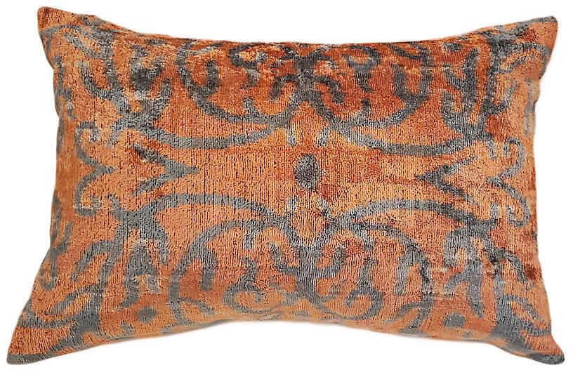 Viviane 16x24 Lumbar Pillow, Orange
