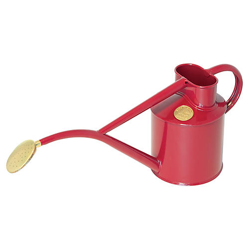 "14"" Zelos Indoor Watering Can, Burgundy"