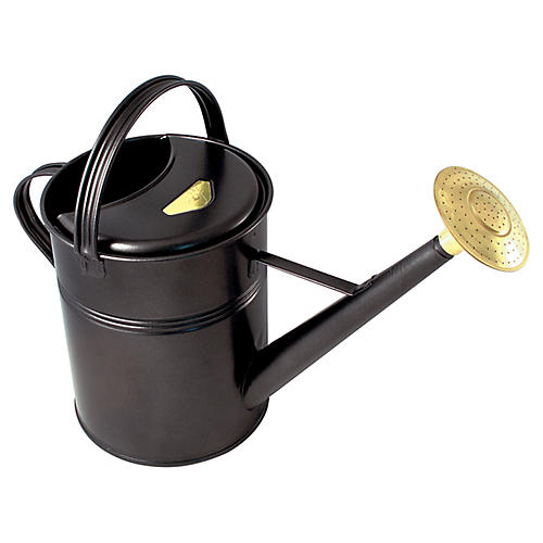 "23"" Manto Traditional Watering Can, Black"