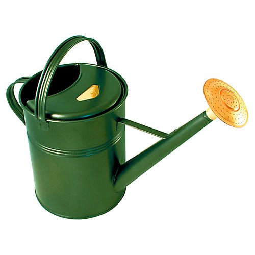 """23"""" Manto Traditional Watering Can, Green"""