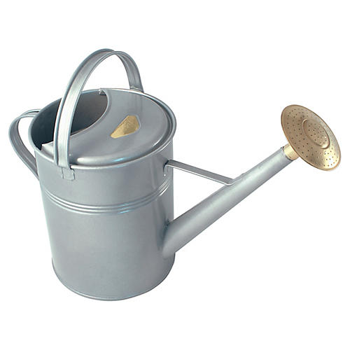 """23"""" Manto Traditional Watering Can, Titanium"""
