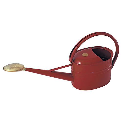 "25"" Grove Slim Watering Can, Burgundy"