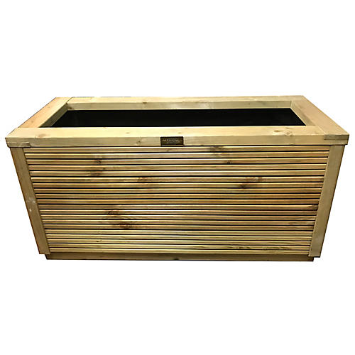 "40"" Delphi Outdoor Planter, Natural"