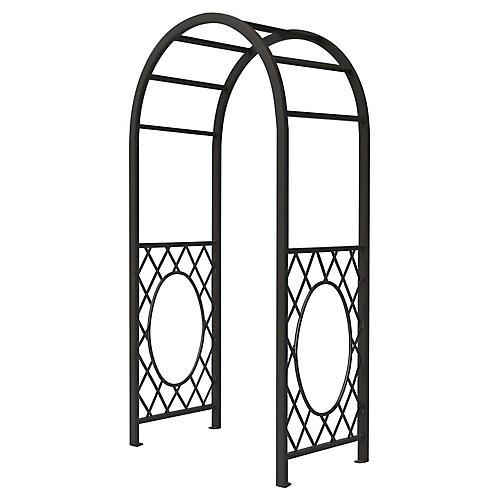 "87"" Pallas Rounded Garden Arch, Gunmetal Gray"