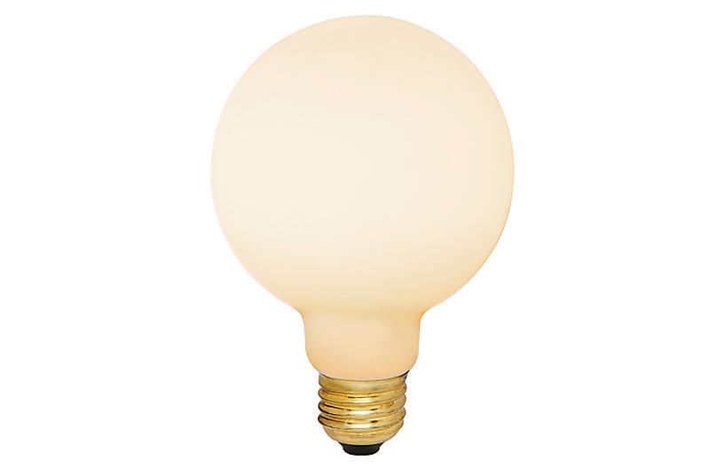 6W Porcelain II Light Bulb, White