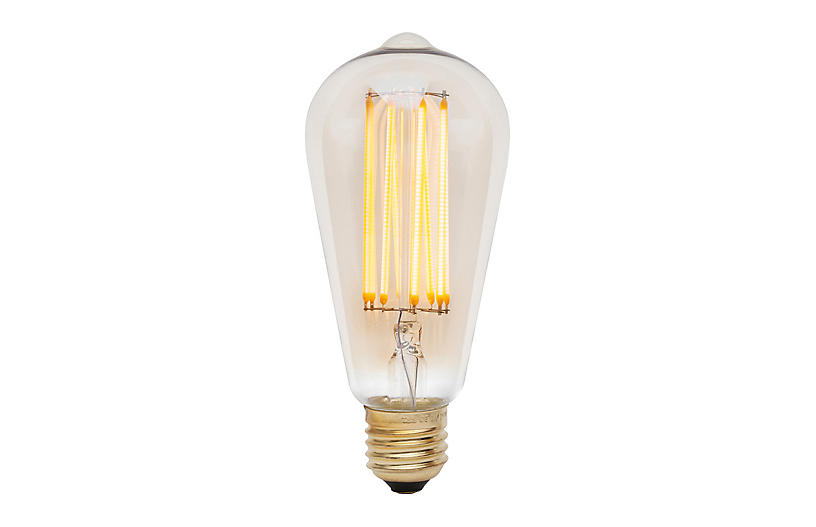 3W Squirrel Cage LED Light Bulb, Tinted/Clear