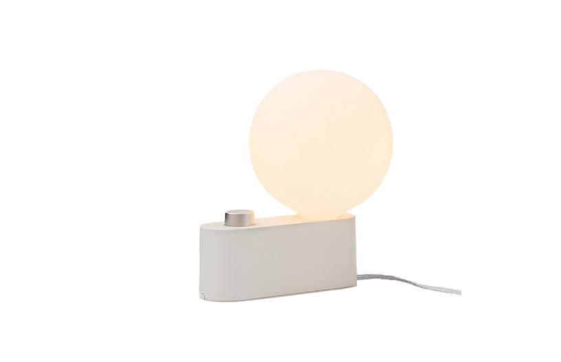 Alumina Table Lamp/Sconce, Chalk