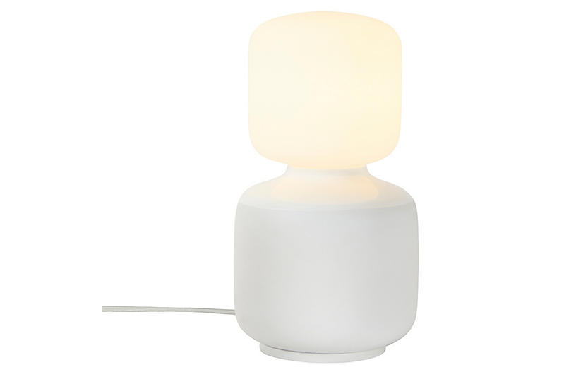 David Weeks Oblo Table Lamp, White