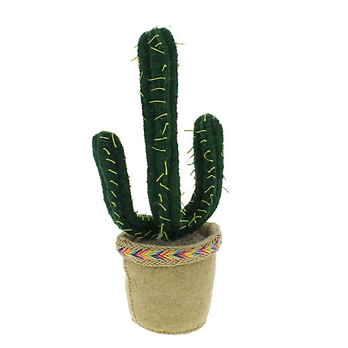 Potted Cactus Plush Toy, Green/Multi