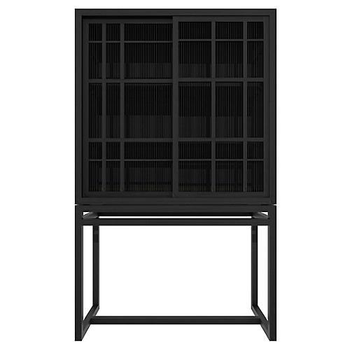 Burung 2-Door Cabinet, Black