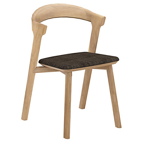 Bok Side Chair, Dark Brown