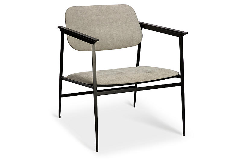 DC Armchair, Light Gray