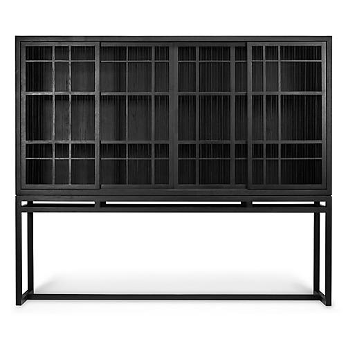 Burung 4-Door Cabinet, Black