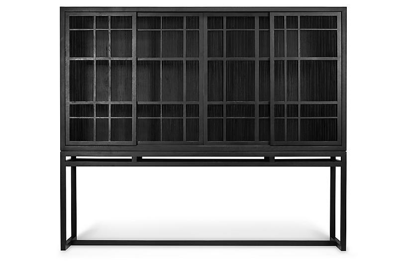 Burung 4-Door Cabinet, Black