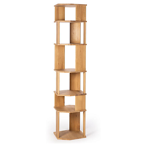 Stairs Column Bookcase, Oak