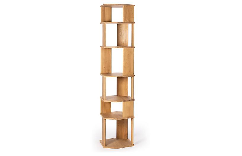 Stairs Column Bookcase, Oak