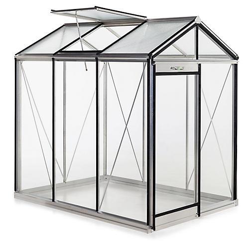 "88"" Medea Urban Greenhouse, Silver"