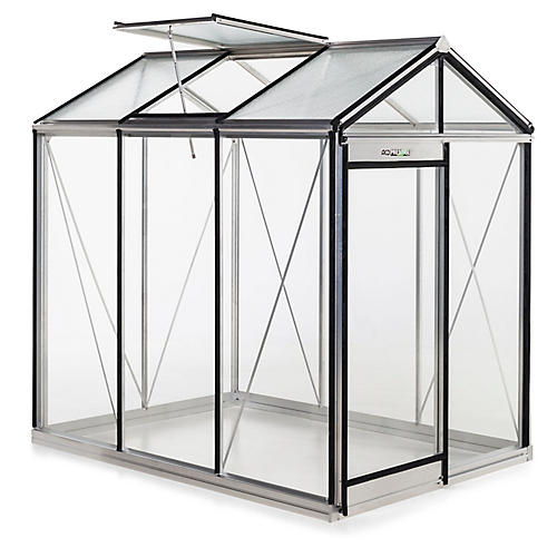 "88"" Medea Urban Greenhouse, Silver"