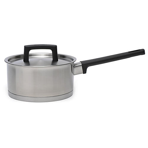 Ron Covered Saucepan, Silver/Black