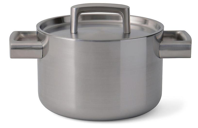 Ron Covered Casserole Dish, Silver