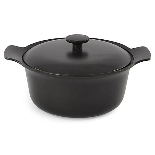 Ron Cast-Iron Stockpot, Black