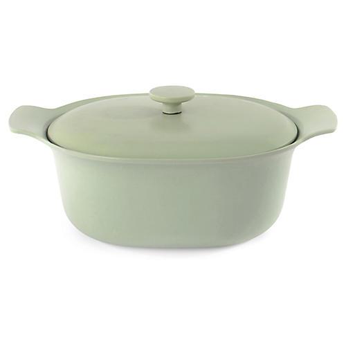 Ron Cast-Iron Casserole Dish, Green