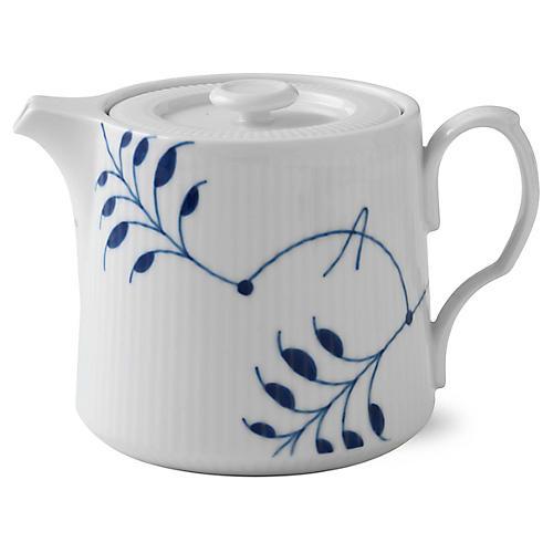 Mega Teapot, White/Blue