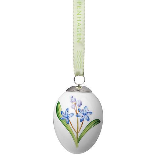 Scilla Easter Egg Ornament, Blue/Multi