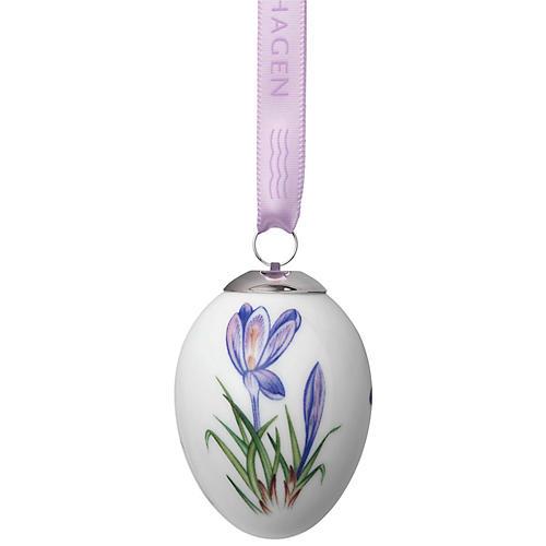 Crocus Easter Egg Ornament, Purple/Multi