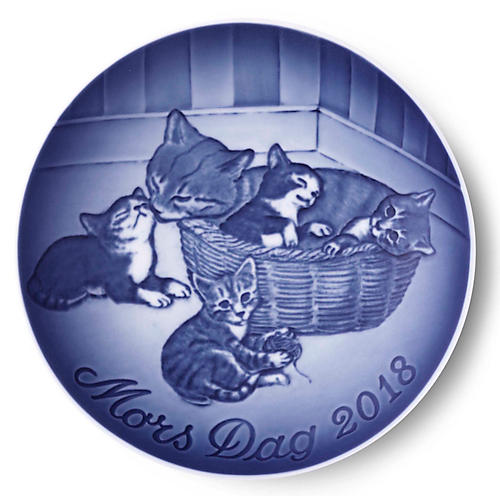 """6"""" Mother's Day 2018 Decorative Plate, Blue/White"""