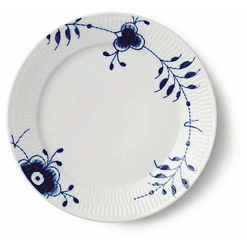 Mega Dinner Plate, White/Blue