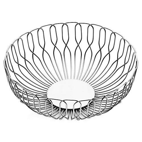 Alfredo Bread Basket, Silver