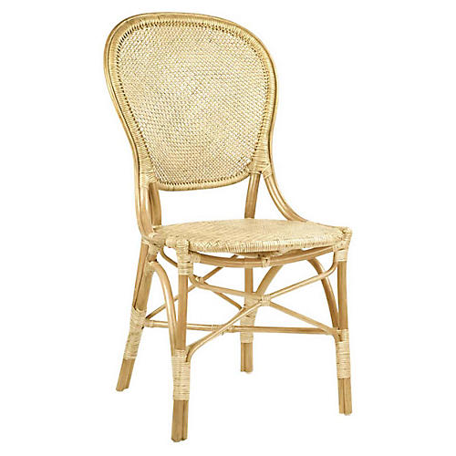 Rossini Rattan Side Chair, Natural
