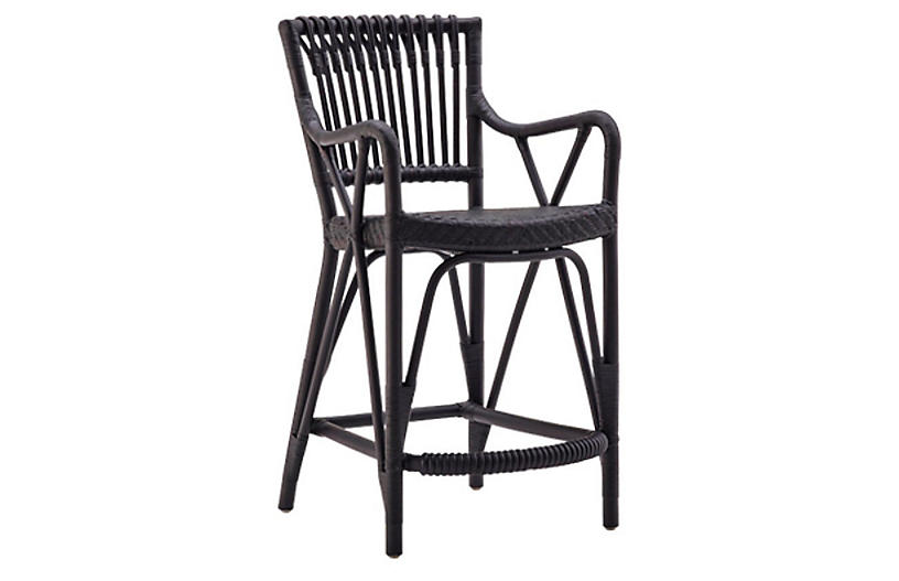Blues Counter Stool, Black