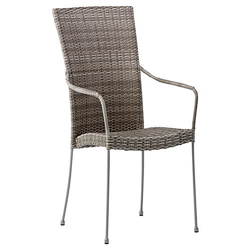 Saturn Outdoor Armchair, Silver