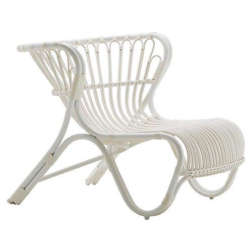 Fox Outdoor Chair, Dove White