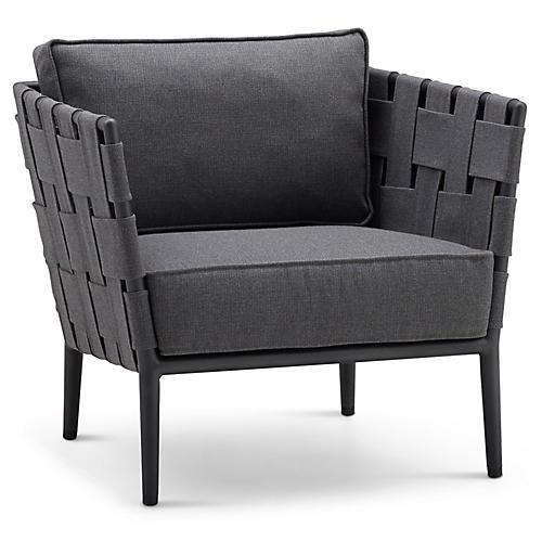 Conic Club Chair, Gray