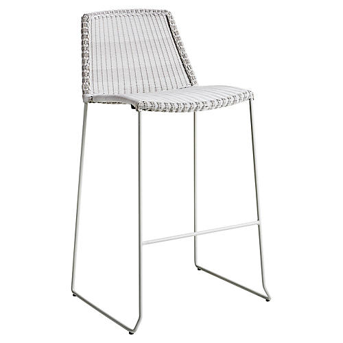 Breeze Barstool, White/Gray