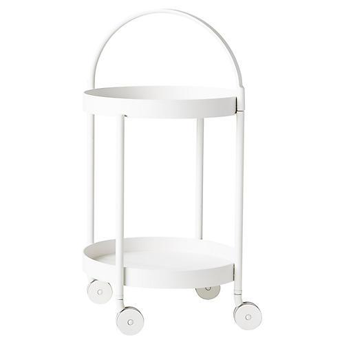 Trolley Bar Cart, White