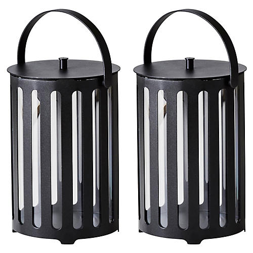 S/2 Lighttube Lanterns, Lava Gray