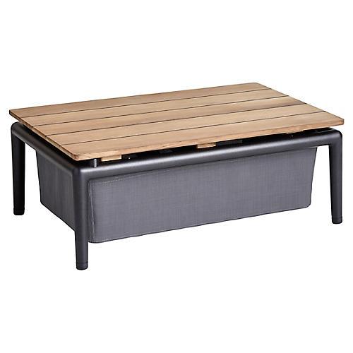 Conic Storage Coffee Table, Gray Sunbrella